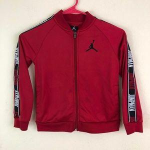 Jordan Boys Red Jacket Sz 6 6-7 years Logo Sleeves